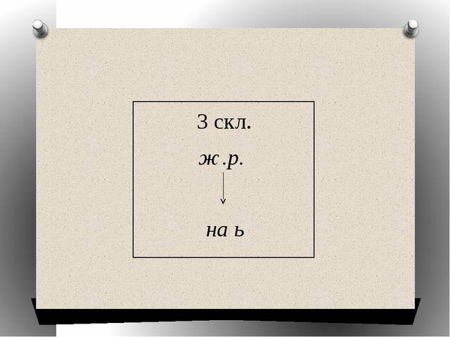 3 скл. ж.р. на ь