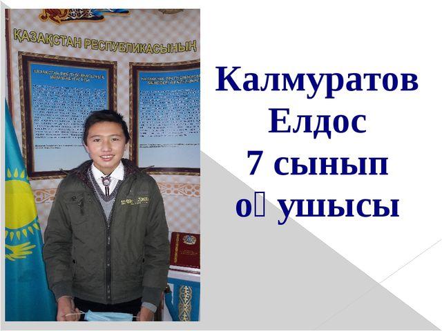 Калмуратов Елдос 7 сынып оқушысы