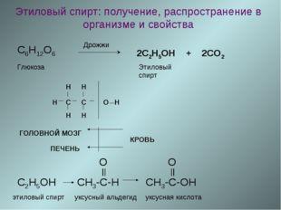 Этиловый спирт: получение, распространение в организме и свойства C6H12O6 Дро