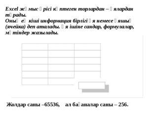 5. Excel құжаттарының атауы қандай кеңейткішпен сақталады? А. Dos Б. Doc С.