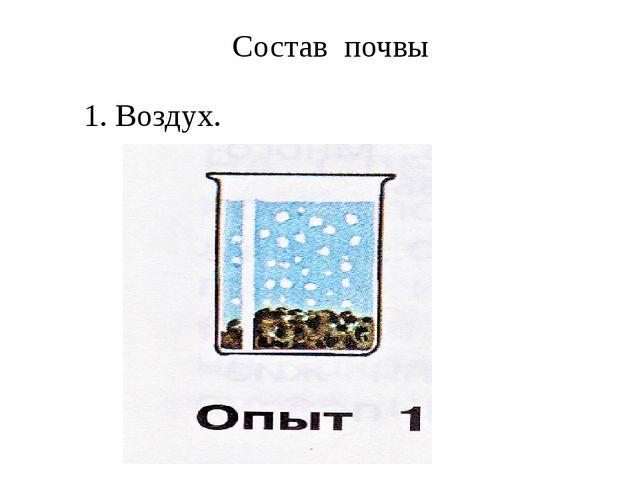 Состав почвы 1. Воздух.