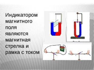 Индикатором магнитного поля являются магнитная стрелка и рамка с током
