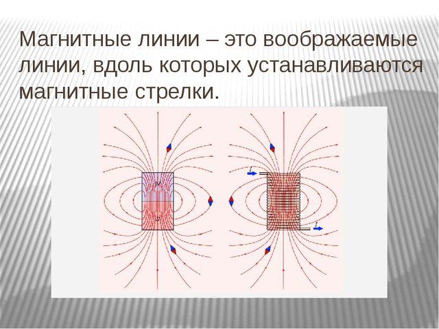 Магнитные линии – это воображаемые линии, вдоль которых устанавливаются магни...