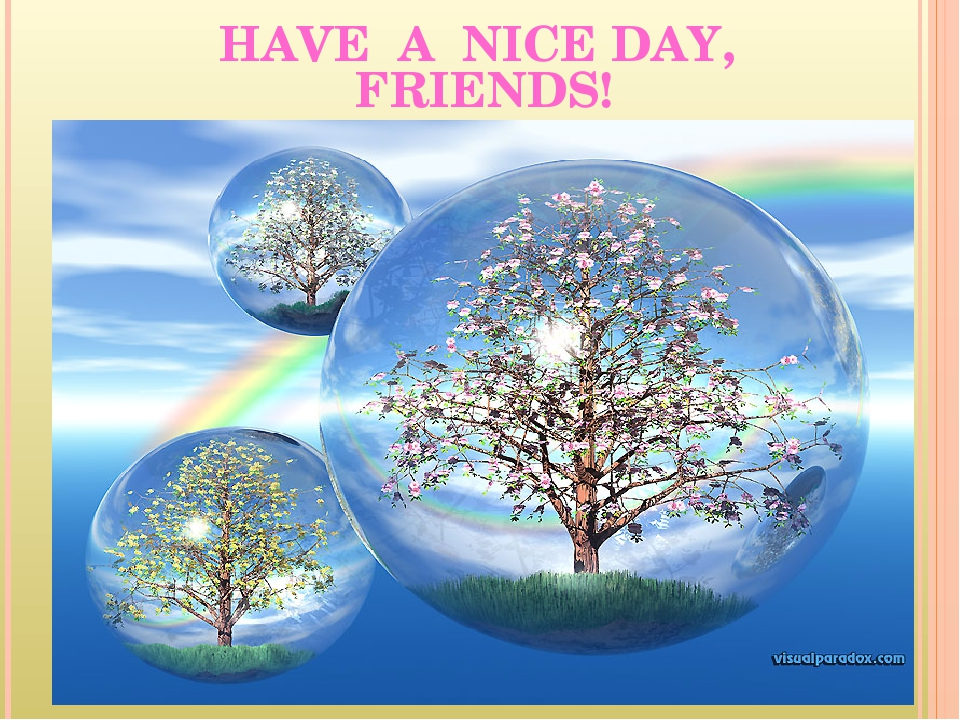 HAVE A NICE DAY, FRIENDS!
