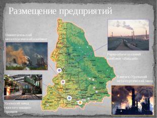 Размещение предприятий Нижнетагильский металлургический комбинат Горно-обогат