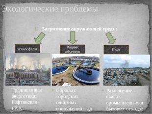 Экологические проблемы Загрязнение окружающей среды Атмосферы Водных объектов