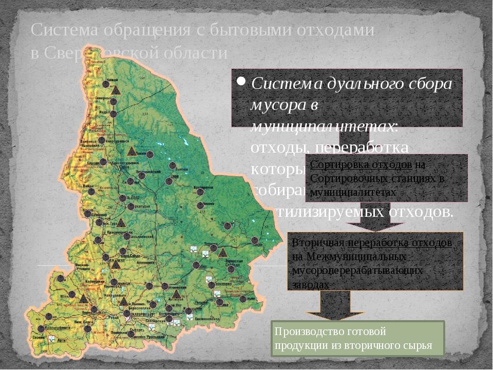 Система обращения с бытовыми отходами в Свердловской области Система дуально...
