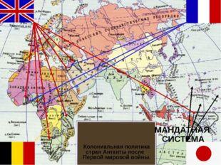МАНДАТНАЯ СИСТЕМА Колониальная политика стран Антанты после Первой мировой во