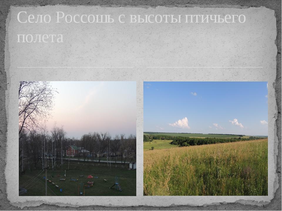 Село Россошь с высоты птичьего полета