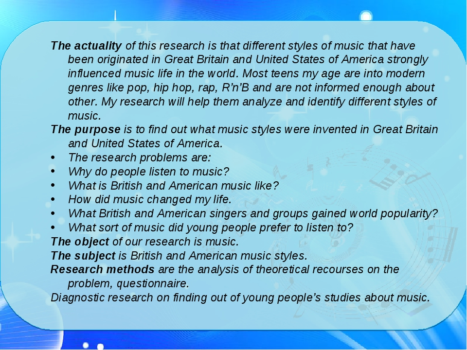 The actuality of this research is that different styles of music that have b...