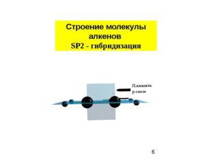Строение молекулы алкенов SP2 - гибридизация