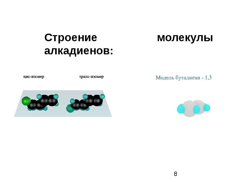 Строение молекулы алкадиенов: