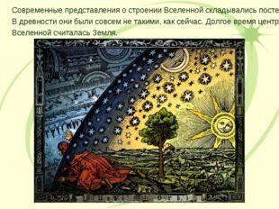 Современные представления о строении Вселенной складывались постепенно. В дре