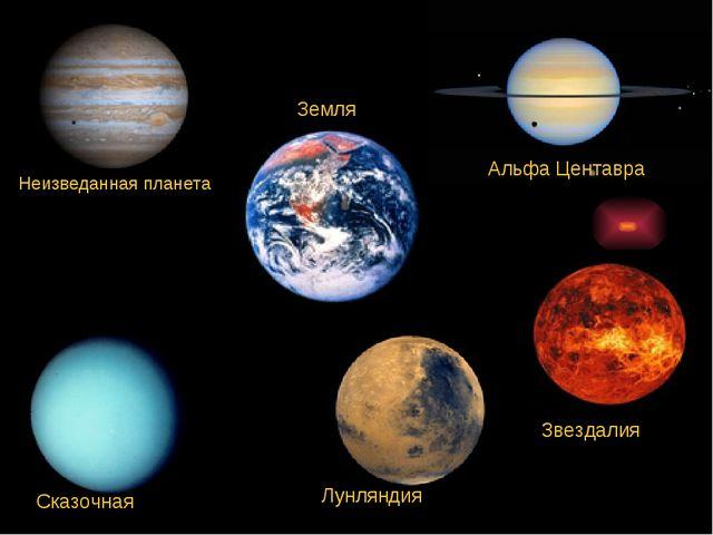 Неизведанная планета Альфа Центавра Звездалия Лунляндия Сказочная Земля