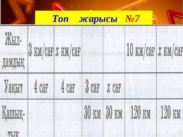 Топ жарысы №7