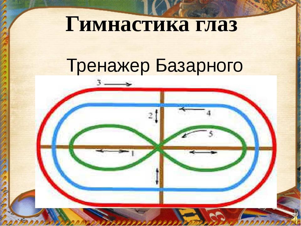 Гимнастика глаз Тренажер Базарного В.Ф.