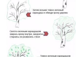 Дерево Угль + карандаш Возьми уголек в руку и нарисуй ствол березы и ветки З