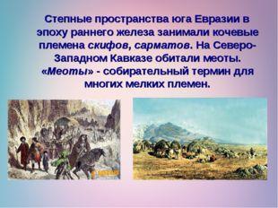Степные пространства юга Евразии в эпоху раннего железа занимали кочевые пле