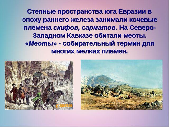 Степные пространства юга Евразии в эпоху раннего железа занимали кочевые пле...