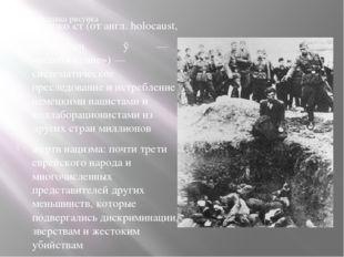 Холоко́ст (от англ. holocaust, из др.-греч. ὁλοκαύστος— «всесожжение»)— сис