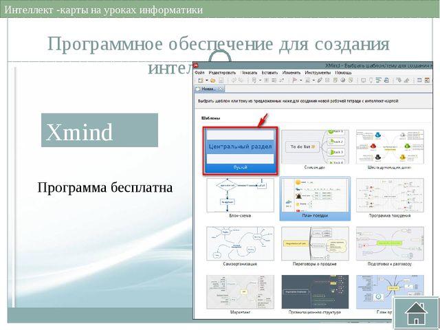 Программное обеспечение для создания интеллект - карт имеет привычный офисный...