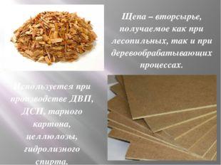Щепа – вторсырье, получаемое как при лесопильных, так и при деревообрабатываю