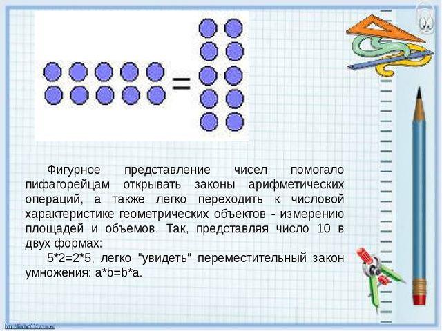 Фигурное представление чисел помогало пифагорейцам открывать законы арифметич...