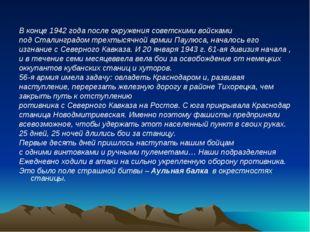 В конце 1942 года после окружения советскими войсками под Сталинградом трехты