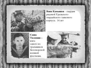 Ваня Камышев – гвардии рядовой Уральского гвардейского танкового корпуса. 14