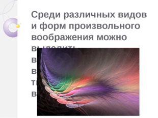 Среди различных видов и форм произвольного воображения можно выделить воссозд