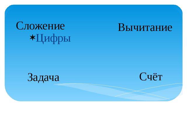 Цифры Сложение Вычитание Задача Счёт