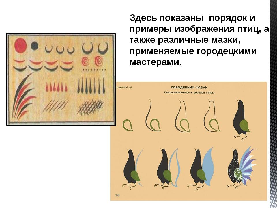Здесь показаны порядок и примеры изображения птиц, а также различные мазки, п...