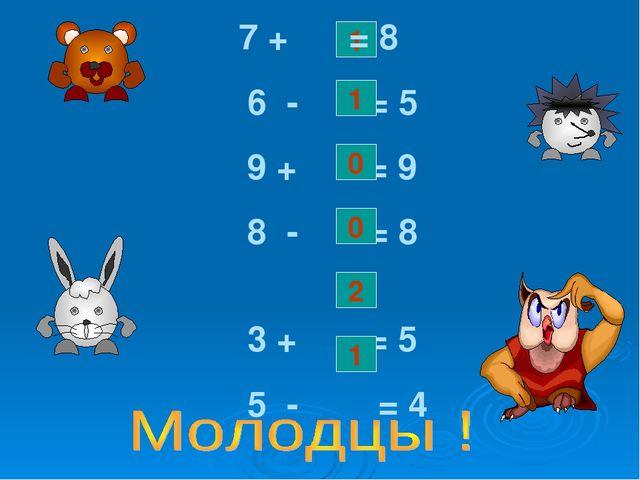 1 7 + = 8 6 - = 5 9 + = 9 8 - = 8 3 + = 5 5 - = 4 0 0 1 2 1