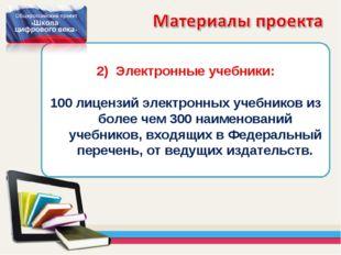 Электронные учебники: 100 лицензий электронных учебников из более чем 300 наи