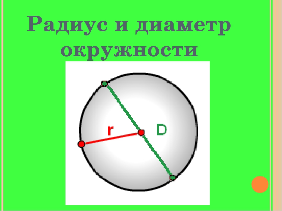 Радиус и диаметр окружности