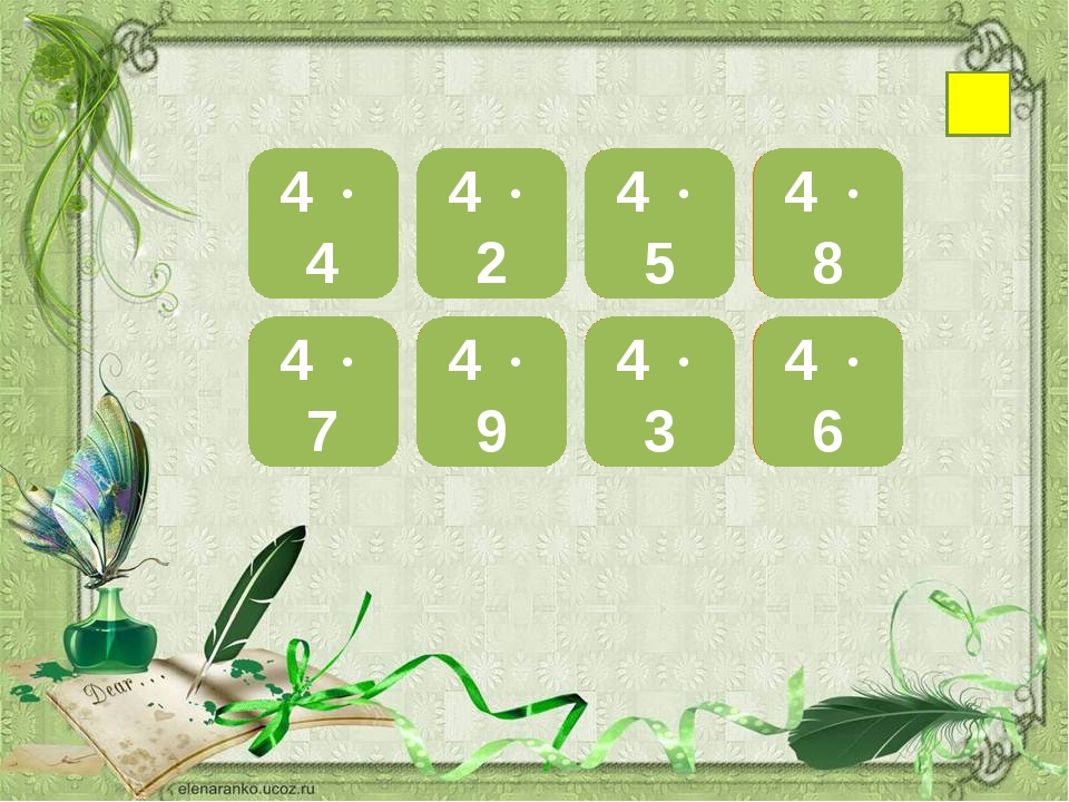 16 4  4 28 4  7 8 4  2 36 4  9 20 4  5 12 4  3 32 4  8 24 4  6