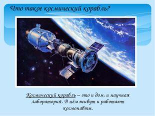 Что такое космический корабль? Космический корабль – это и дом, и научная лаб