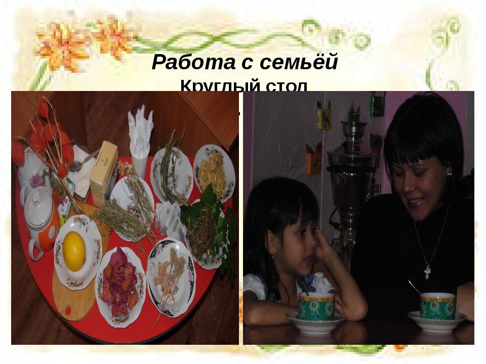 Работа с семьёй Круглый стол «Все о здоровье. Волшебный чай».