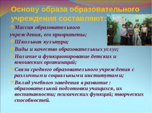 Миссия образовательного учреждения, его приоритеты; Школьная культура; Виды и