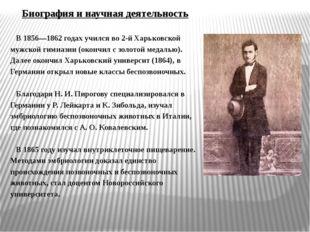 Биография и научная деятельность В 1856—1862 годах учился во 2-й Харьковской
