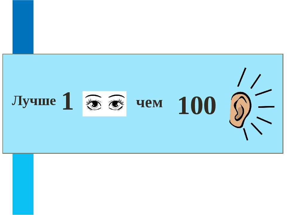 100 чем 1 Лучше