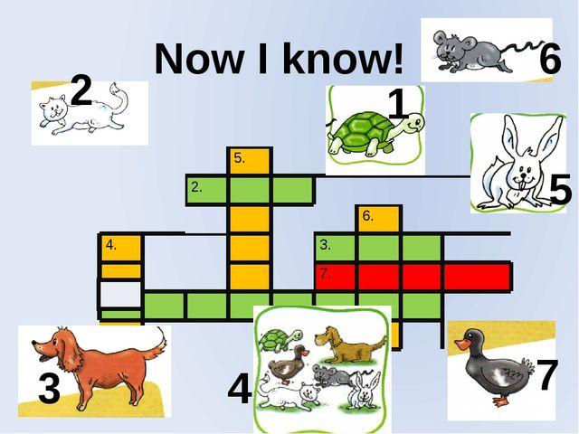 Now I know! 1 2 3 4 5 6 7 5. 2. 6. 4. 3. 7. 1.