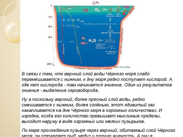 В связи с тем, что верхний слой воды Чёрного моря слабо перемешивается с нижн...