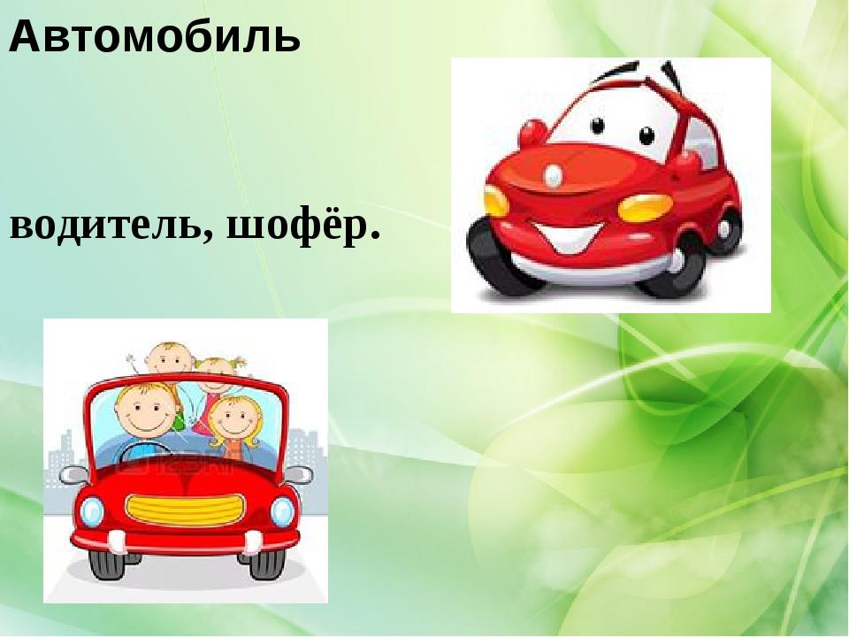 Автомобиль водитель, шофёр.