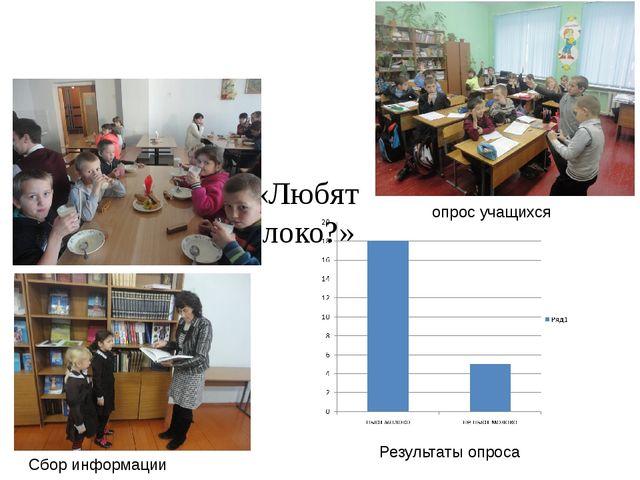 Анкетирование «Любят ли дети пить молоко?» опрос учащихся Результаты опроса...