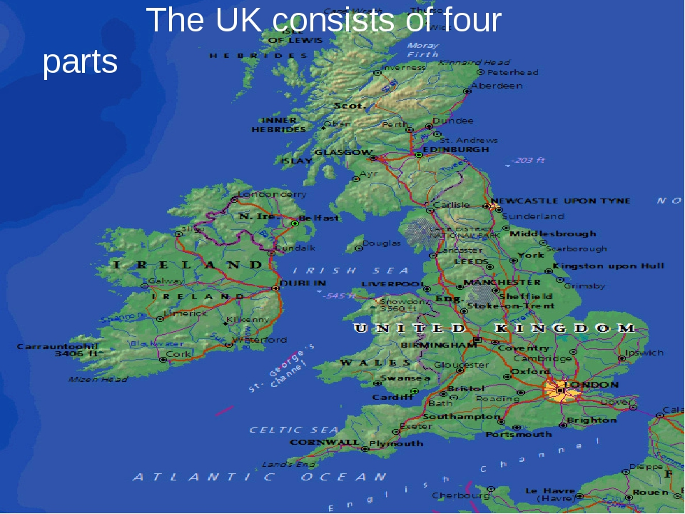The UK consists of four parts