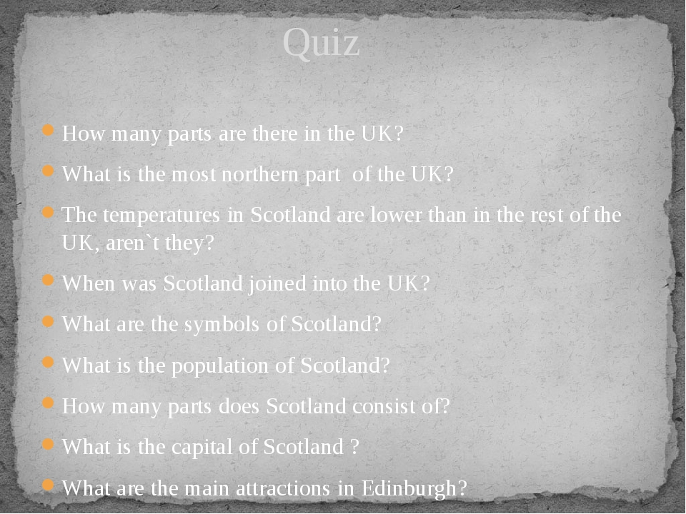 How many parts are there in the UK? What is the most northern part of the UK?...