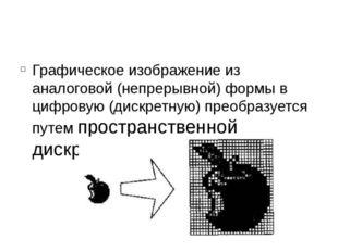 Графическое изображение из аналоговой (непрерывной) формы в цифровую (дискрет