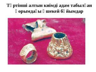 Төртінші алтын киімді адам табылған қорымдағы әшекей бұйымдар