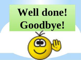 Well done! Goodbye!